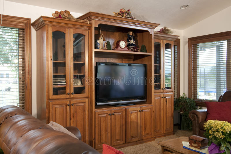 Centro de entretenimento do domicílio familiar fotografia de stock royalty free