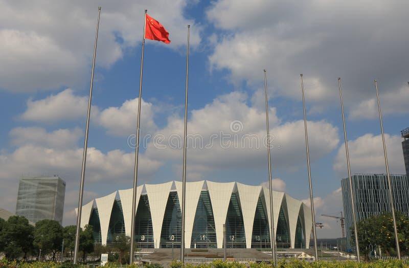 Centro de esportes oriental Shanghai de Shanghai China fotografia de stock royalty free
