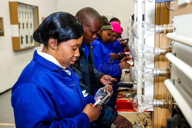 Centro de formación profesional de la formación de capacidades en África fotos de archivo libres de regalías