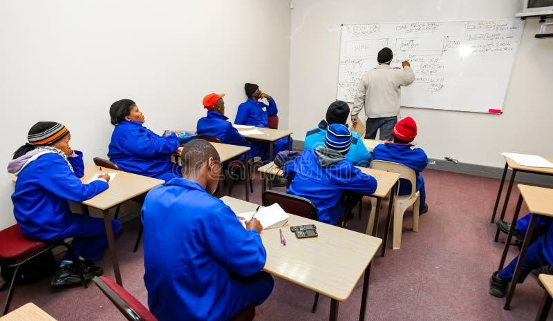 Centro de formación profesional de la formación de capacidades en África foto de archivo