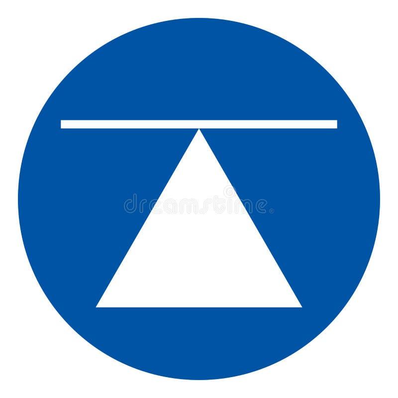 Centro de gravedad la muestra del símbolo, ejemplo del vector, aislado en la etiqueta blanca del fondo EPS10 ilustración del vector