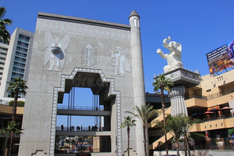 Centro de Hollywood y de la montaña foto de archivo libre de regalías
