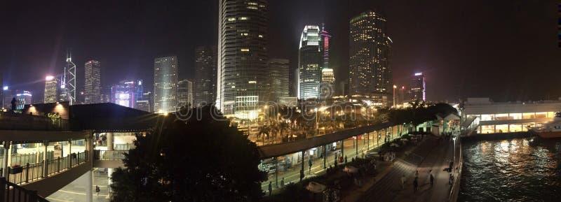 Centro de IFC, puerto central Front Panorama Hongkong foto de archivo