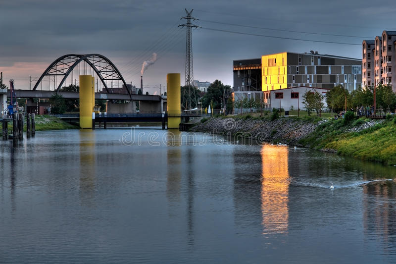 Centro de industria musical de Musikpark Mannheim imagen de archivo libre de regalías