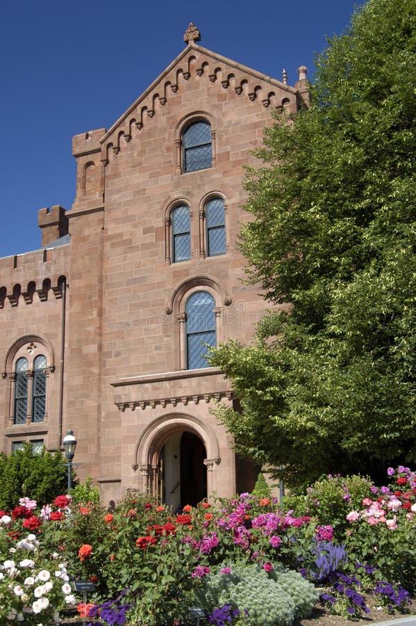 Centro de informação de Smithsonian no castelo imagens de stock