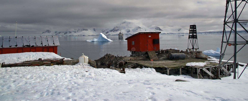 Centro de investigación antártico fotografía de archivo