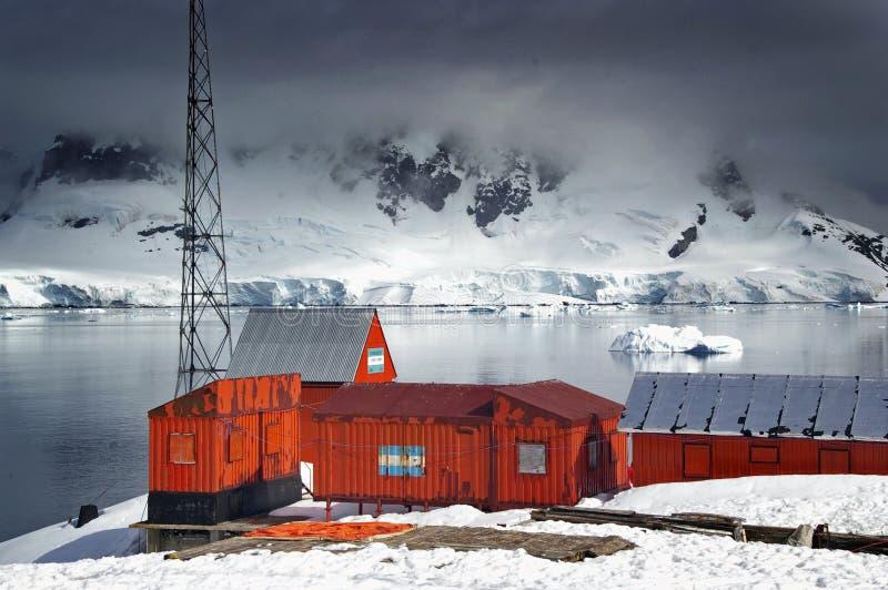 Centro de investigación antártico imágenes de archivo libres de regalías