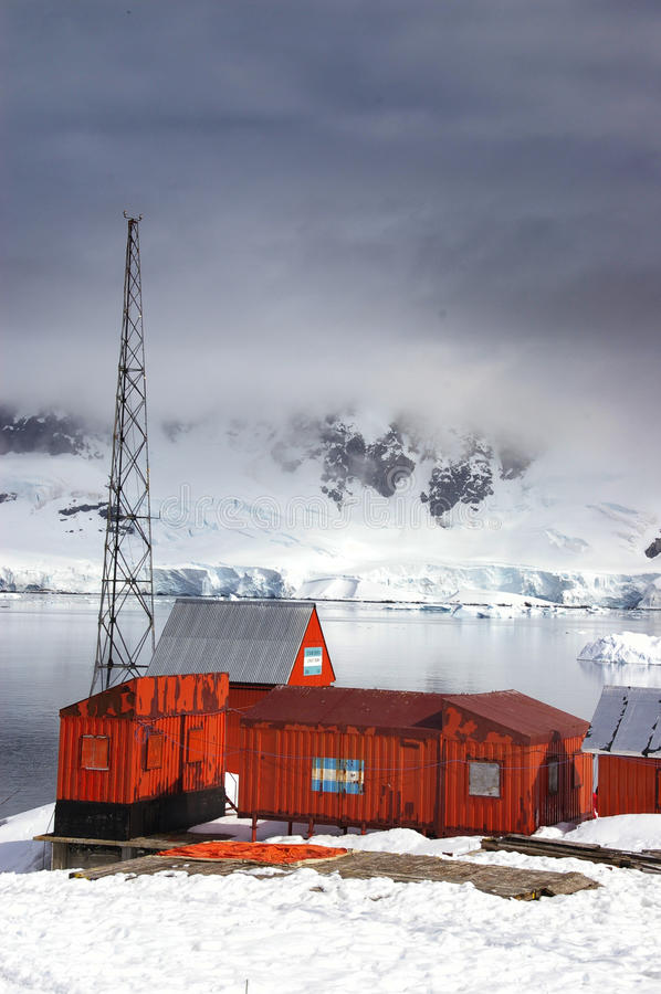 Centro de investigación antártico imagen de archivo libre de regalías