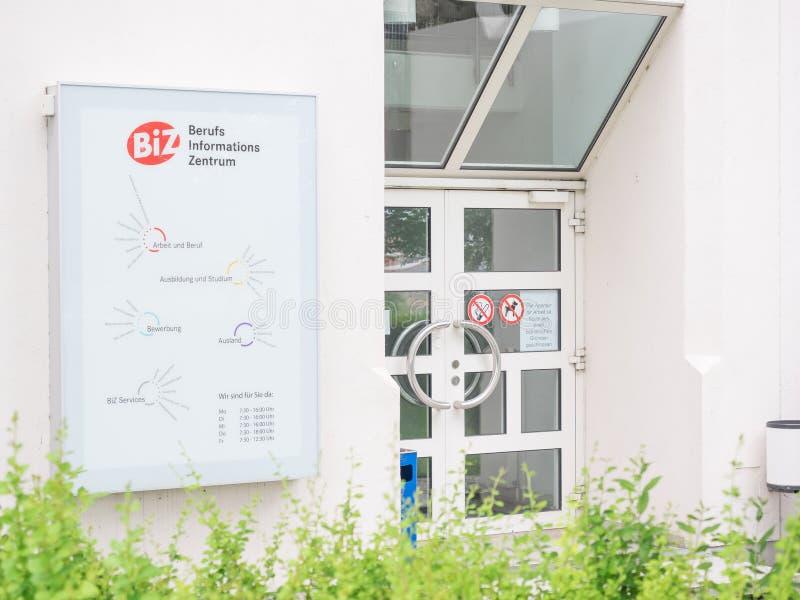 Centro de Job Information do alemão imagens de stock