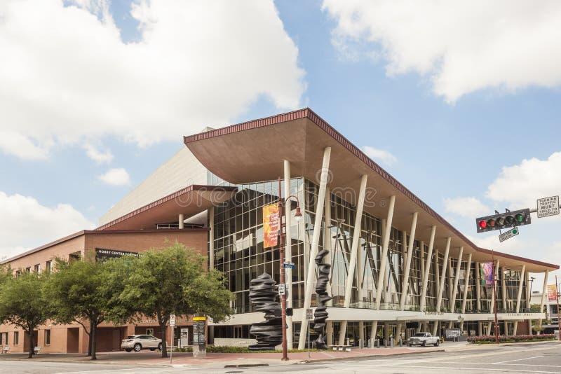 Centro de la afición para las artes interpretativas en Houston, Tejas fotografía de archivo