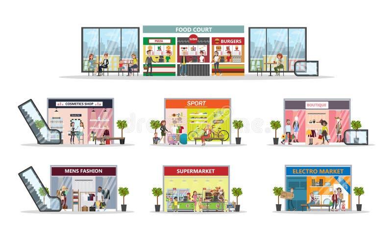 Centro de la alameda de compras ilustración del vector