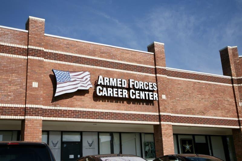 Centro de la carrera de las fuerzas armadas de arma foto de archivo libre de regalías
