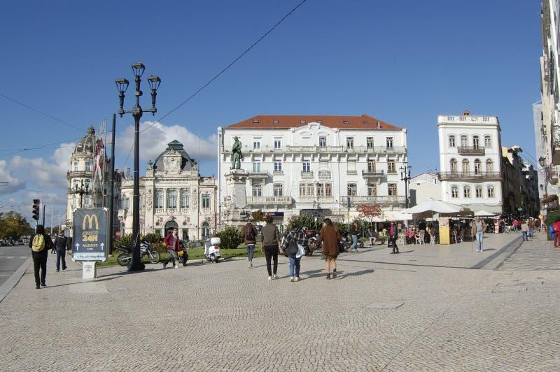 Centro de la ciudad de Coímbra, Portugal fotografía de archivo