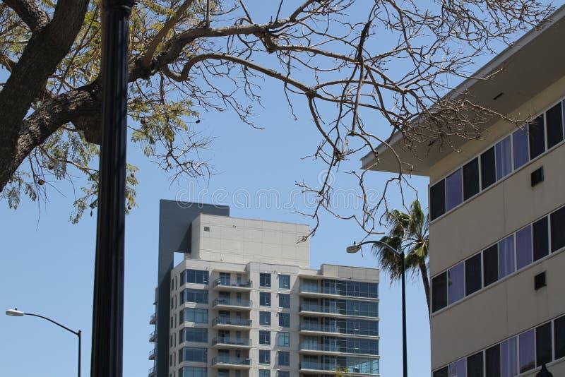 Centro de la ciudad constructivo en San Diego imágenes de archivo libres de regalías