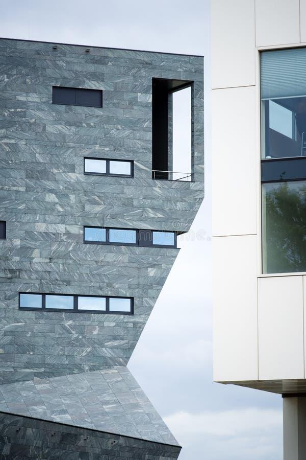 Centro de la ciudad constructivo moderno, fotografía de archivo libre de regalías