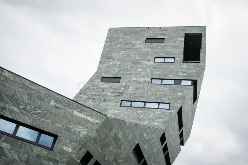 Centro de la ciudad constructivo moderno, imagen de archivo