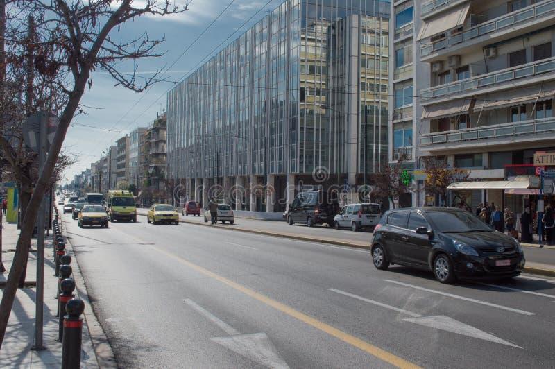 Centro de la ciudad de Atenas imágenes de archivo libres de regalías