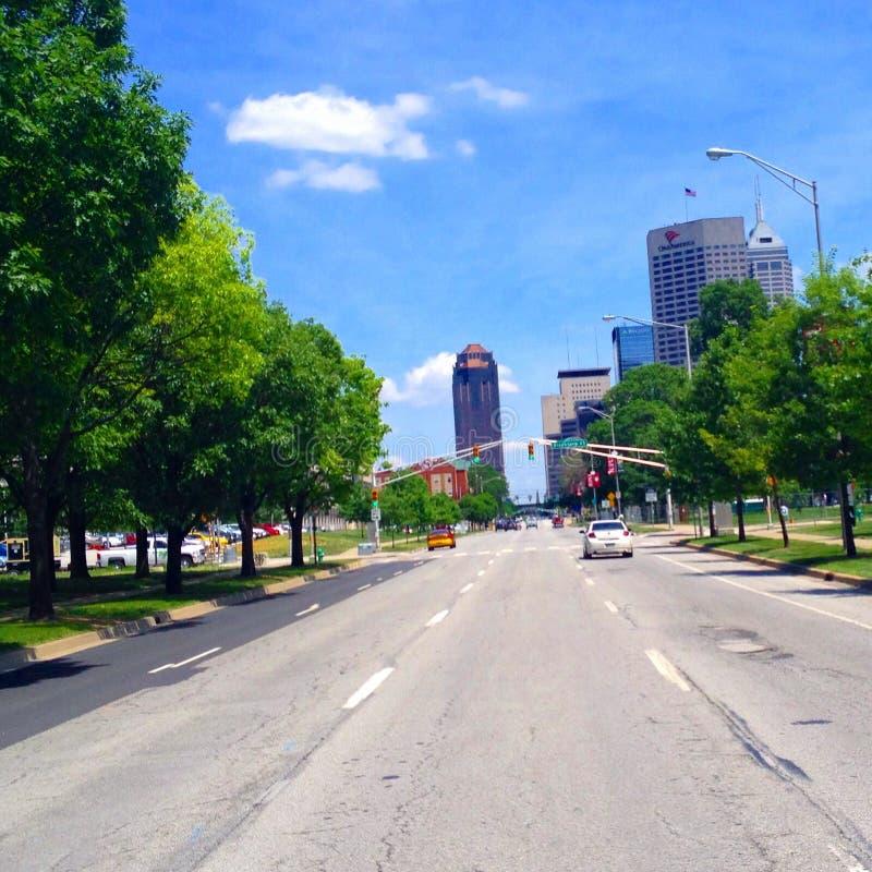 Centro de la ciudad de Indianapolis foto de archivo libre de regalías