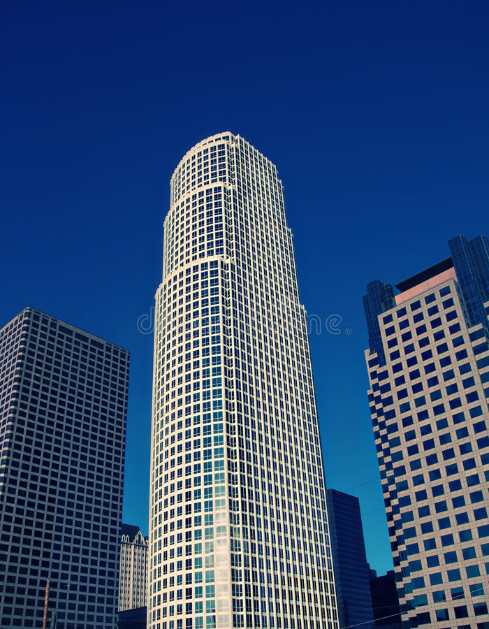 Centro de la ciudad de Los Ángeles fotos de archivo