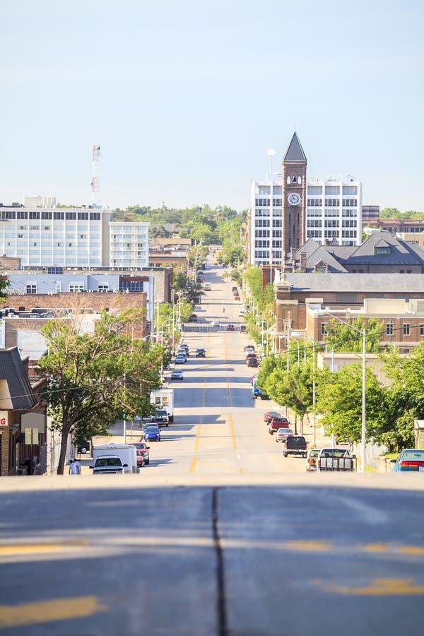 Centro de la ciudad de Sioux Fall, Dakota del Sur fotografía de archivo libre de regalías