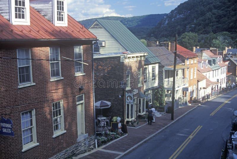 Centro de la ciudad en transbordador histórico de los Harpers, imagen de archivo