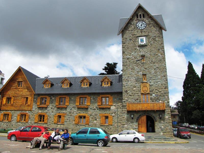 Centro de la ciudad famoso de Bariloche, la Argentina fotografía de archivo