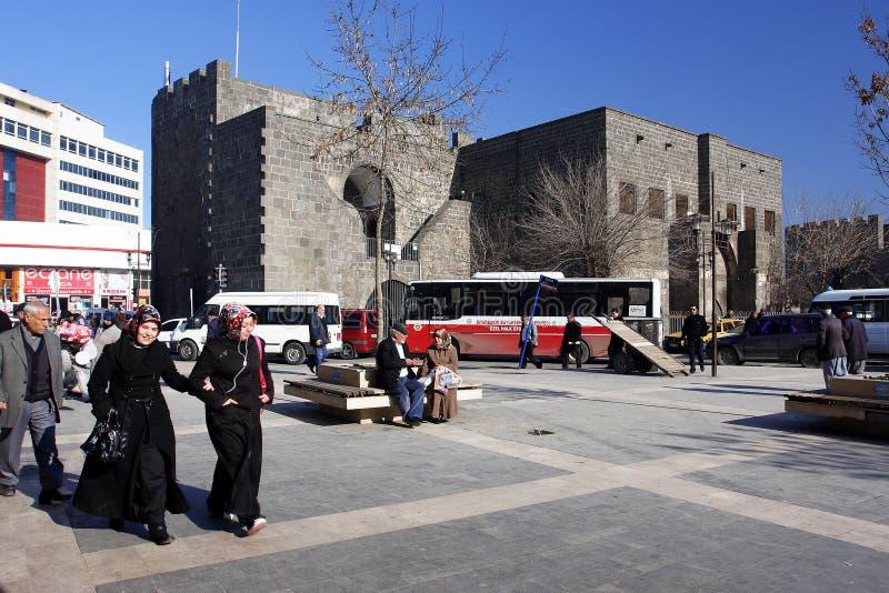 Centro de la ciudad kurda Diyarbakir imagen de archivo