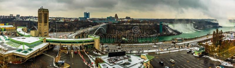 Centro de la ciudad de Niagara Falls, Ontario, Canadá imagen de archivo