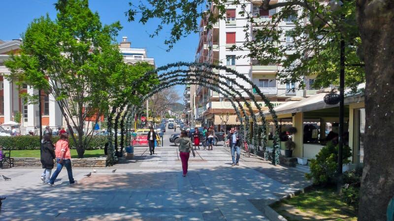 Centro de la ciudad de Serres, Grecia imagen de archivo libre de regalías