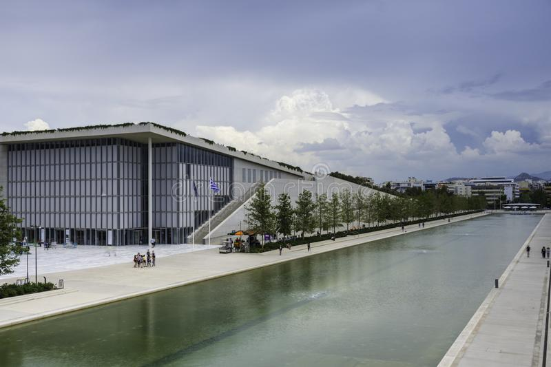 Centro de la fundación de Stavros Niarchos, parque y Griego culturales Nati imágenes de archivo libres de regalías