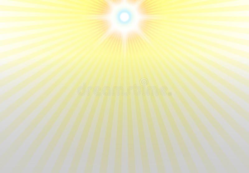 Centro de la luz del sol en fondo superior stock de ilustración