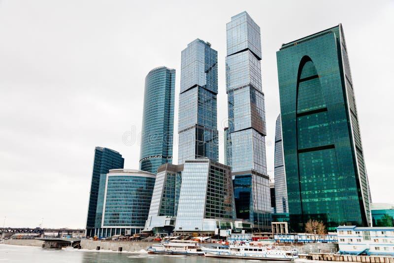 Centro de la oficina de ciudad de Moscú foto de archivo libre de regalías