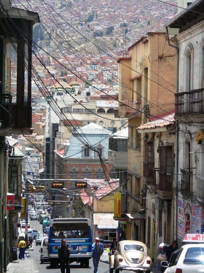 Centro de La Paz & x28; Bolivia& x29; royalty-vrije stock foto's