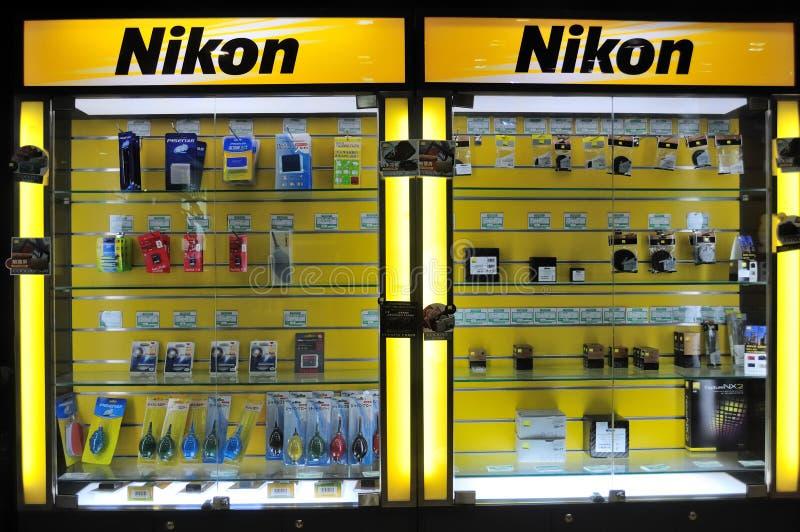 Centro de la reparación de la cámara de Nikon fotos de archivo libres de regalías