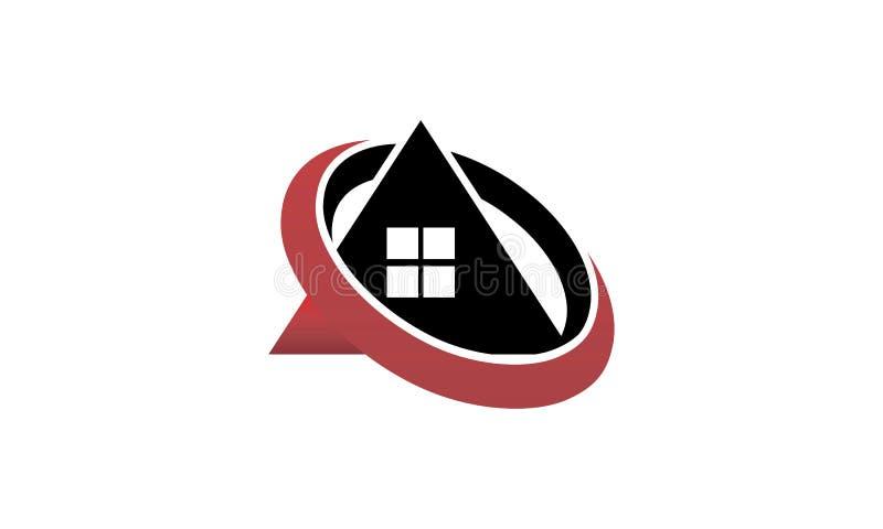 Centro de la solución de Real Estate stock de ilustración