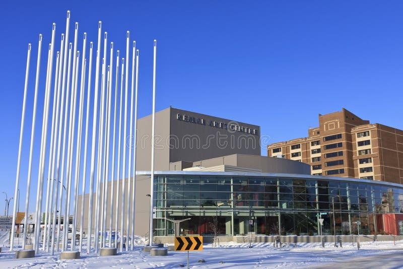 Centro de los artes de Remai o teatro de Persephone, Saskaoon imagen de archivo