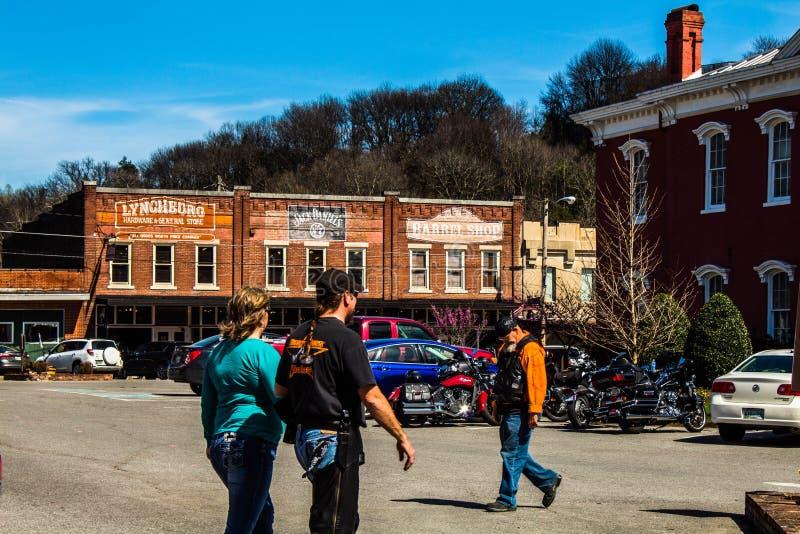 centro de lynchburg TN da cidade 04/02/2018 fotos de stock
