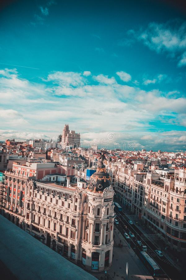Centro de Madrid imagen de archivo libre de regalías