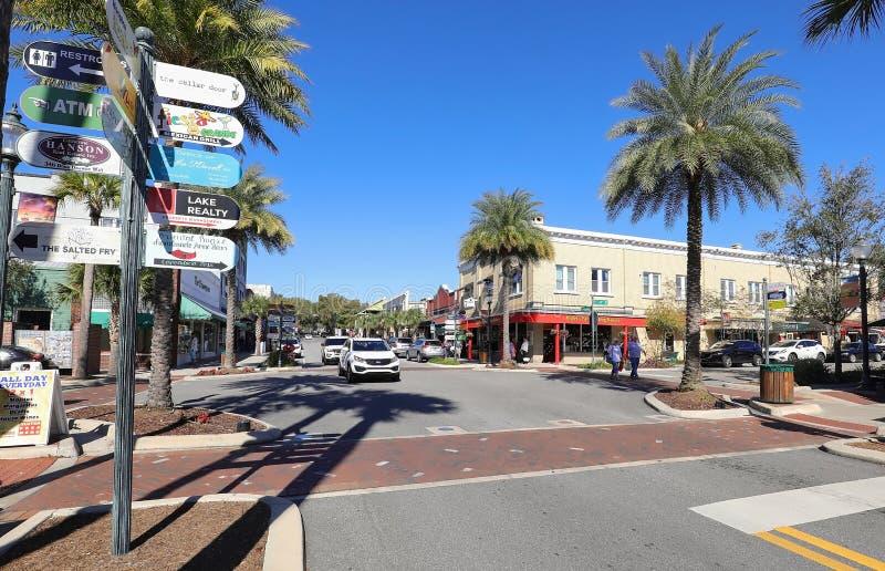 Centro de Mount Dora, Florida imagen de archivo