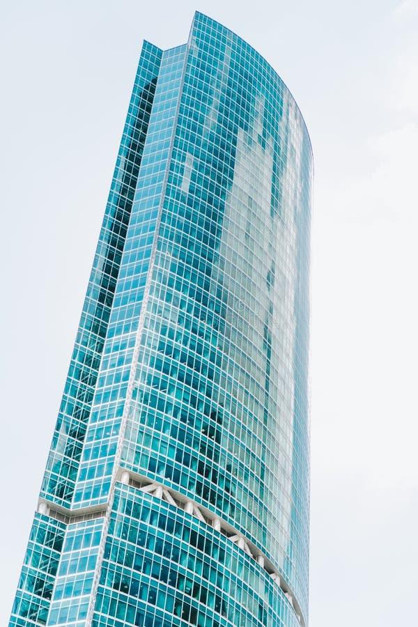 Centro de negócio exterior da construção de vidro moderna alta foto de stock