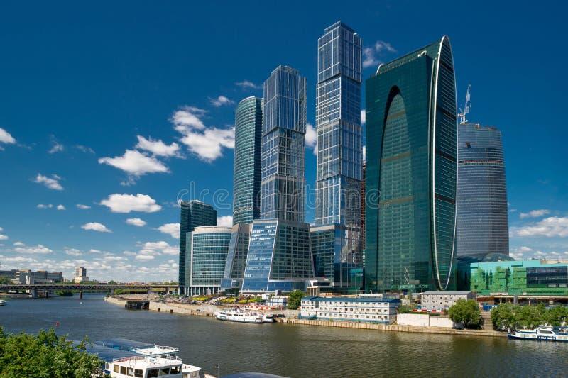 centro de negócios da Moscovo-cidade, Rússia imagem de stock royalty free