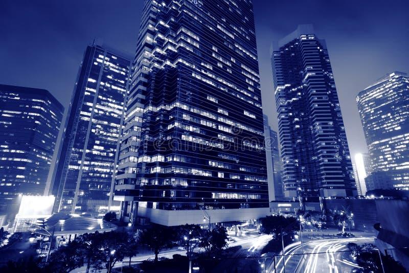 Centro de negócios dos arranha-céus foto de stock royalty free