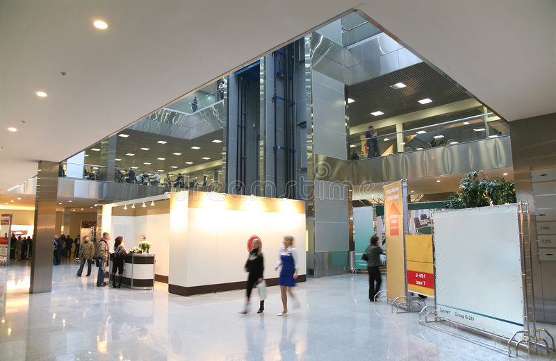 Centro de negócios interno fotos de stock
