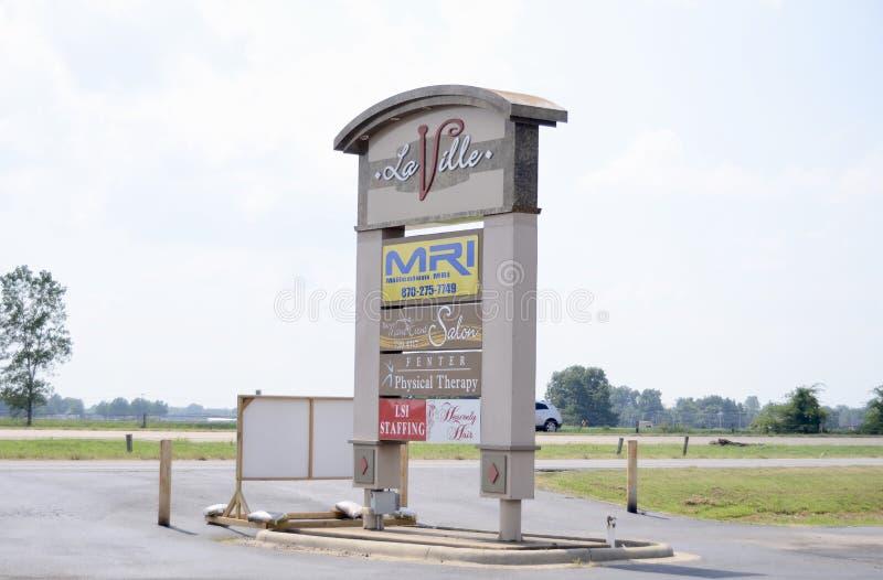 Centro de negocios de Laville, Marion, Arkansas imagen de archivo libre de regalías