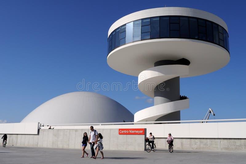 Centro de Niemeyer. Avilés foto de archivo libre de regalías