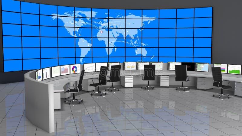 Centro de operaciones de la red/de la seguridad (NOC/SOC) foto de archivo