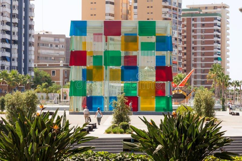 Centro de Pompidou, Málaga fotos de archivo