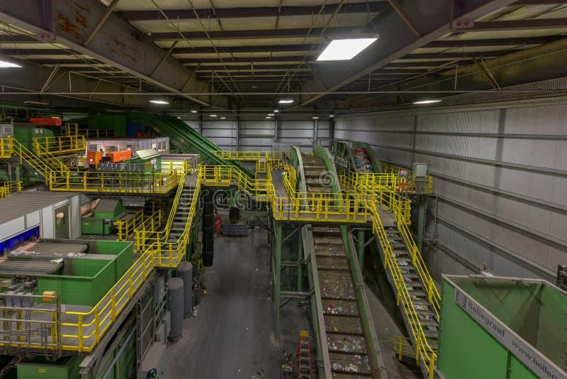 Centro de reciclagem municipal de Sims fotografia de stock
