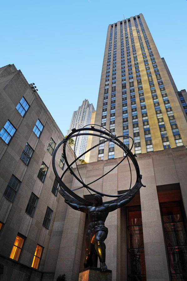 Centro de Rockefeller fotografia de stock royalty free