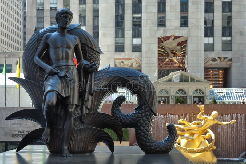Centro de Rockefeller em Manhattan fotos de stock